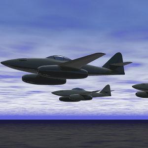 3d model jet fighter me262