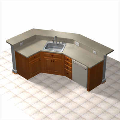 kitchen island 3d model