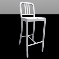 navy barstool 3d 3ds