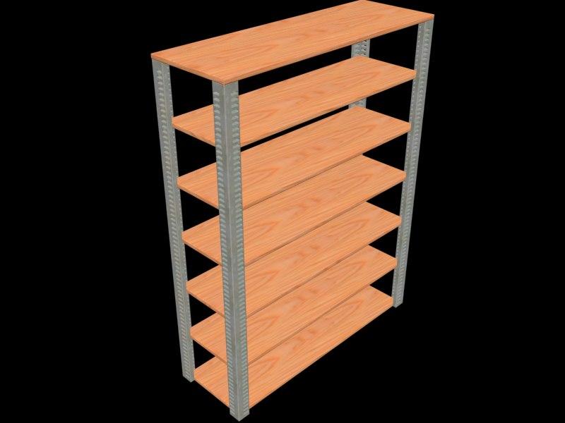 shelves garage 3d max