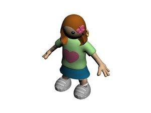 kid character 3d x