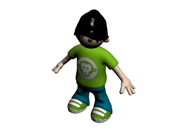 3ds max kid character