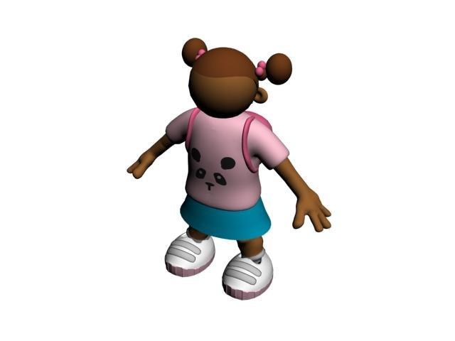kid character 3d model