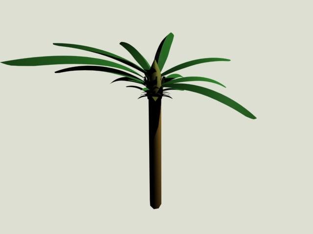 3d max palms trees
