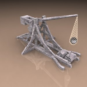 pelican medieval trebuchet 3d max