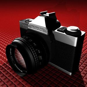 minolta camera 3d model