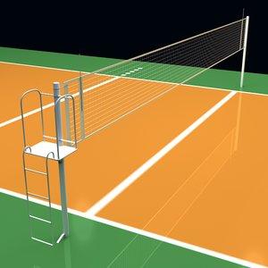c4d volleyball court