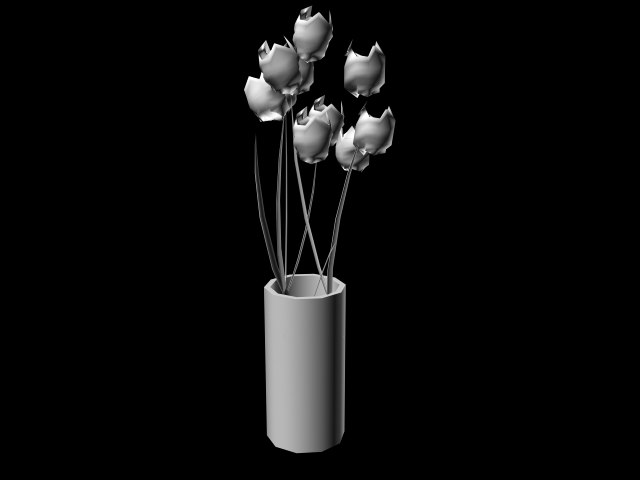 3ds max flowers