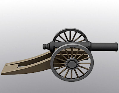 free cannon 3d model