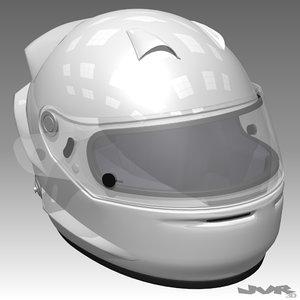 racing car helmet 3d max