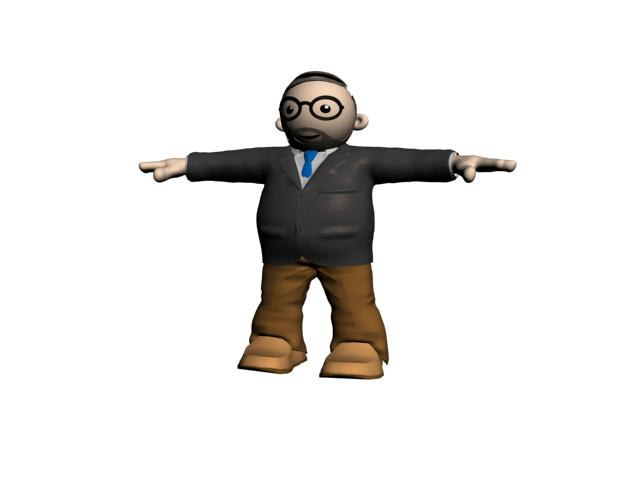 3d model character person