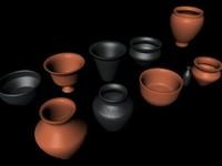 Pottery vessels