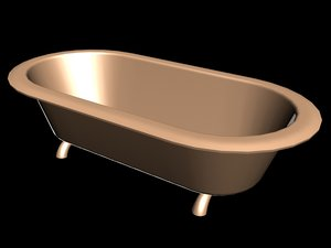 bathtub 3d x