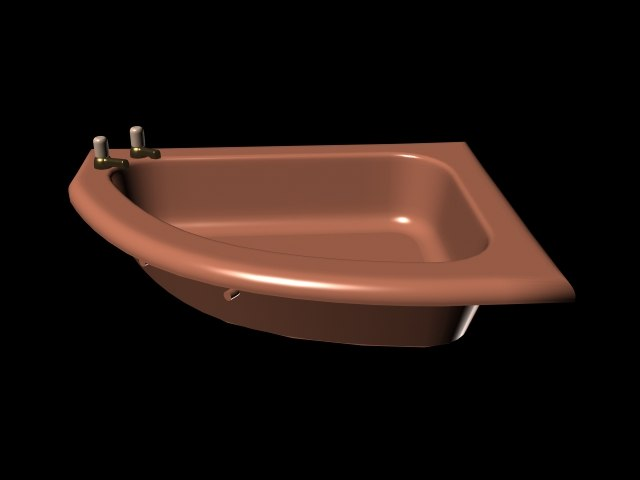 3d model bathtub
