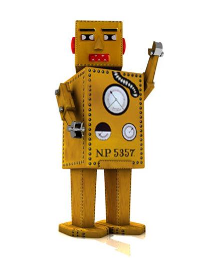 retro robot zipped c4d