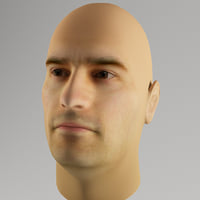 realistic male head morph 3d model
