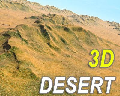 scene desert terrain landscapes 3d model