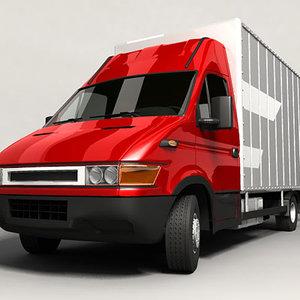 3d 3ds euro delivery van