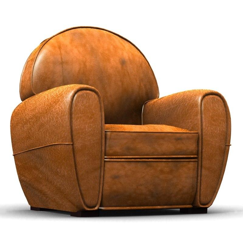 3d model club armchair 1930