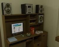 3d model stereo room