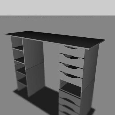 free schreibtisch desk 3d model