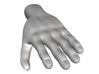3ds human hand