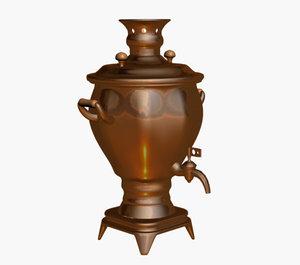 samovar russian teapot 3d model