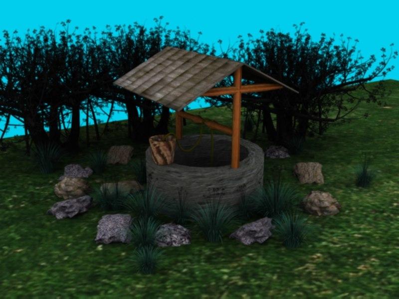 3d model water garden