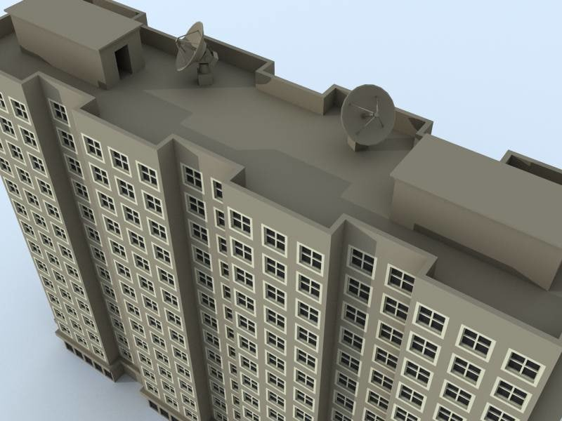 residential building 2 3d model
