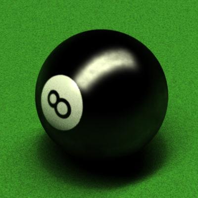 pool table ball 3d model