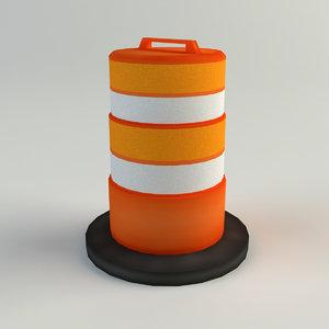 3ds max traffic barrel