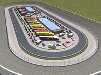 3d model martinsville speedway track