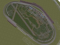 talladega superspeedway racetrack 3d model