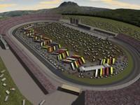 dover speedway racetrack 3d model