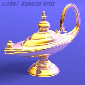 oil lamp 3d lwo