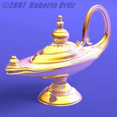 oil lamp 3d lwo
