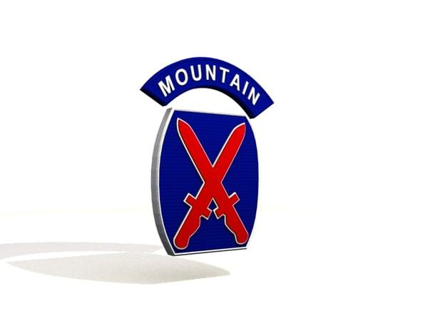3d 10th mountain model