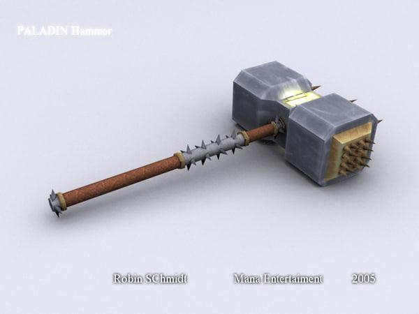 paladin hammer 3d max