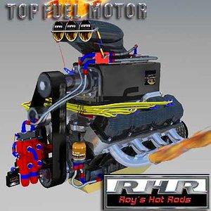3d model of fuel motor