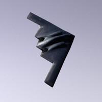 3d model of b2 bomber