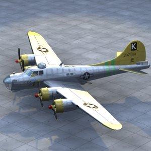b17 bomber 3d model