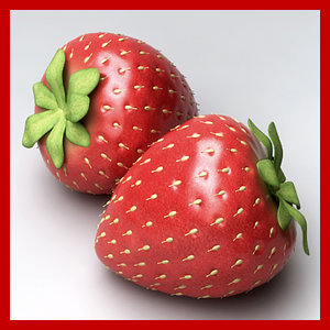 3ds max strawberry berry