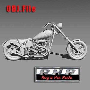 roy custom chopper rhr 3d model