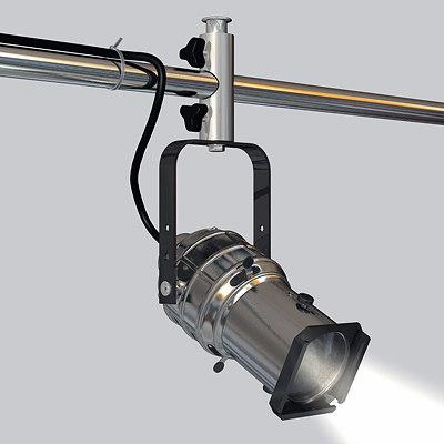 3d theatre stage light spotlight model