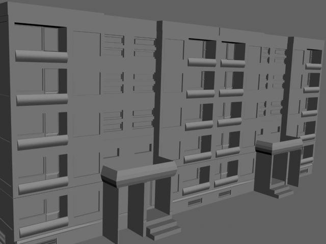 5 floor house 3d model