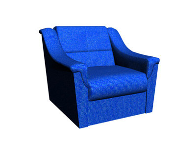 3d simple chair blue model