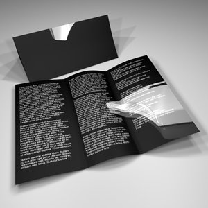 trifold advertising 3d c4d