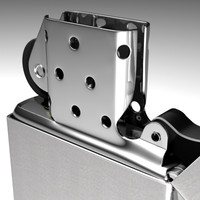 3ds max chrome zippo lighter