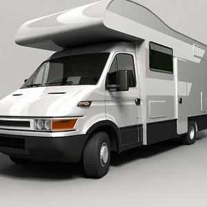 camper camp euro 3d model
