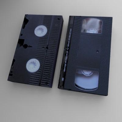 3d vhs videotape model